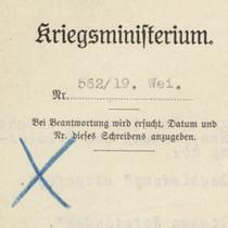 """Aus dem Archivportal: """"Im Blickpunkt - Die Verreichlichung des Militärs im Jahr 1919"""""""