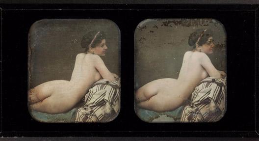 Braquehais, Auguste Bruno; Weiblicher Akt (Rückenansicht), Frankreich, Museum Ludwig (FH 01965, Köln) (Foto: Rheinisches Bildarchiv Köln, Schlier, Britta, 2015:07:07 14:00:32, rba_d036466)
