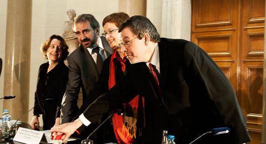 Jill Cousins, Hermann Parzinger, Elke Harjes-Ecker und Matthias Harbort (v.l.n.r.), Foto: Julia Hoppen