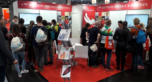 Der Messestand der Deutschen Digitalen Bibliothek 2017 – Halle 5, Stand G500