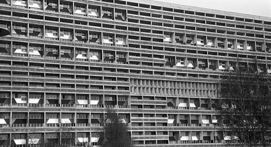 Das Berliner Le Corbusier-Haus, Foto: Willi Pragher, Landesarchiv Baden-Württemberg (CC BY 3.0 Deutschland)