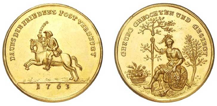 """Medaille """"Frieden von Hubertusburg"""" von G.W. Kittel"""