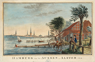 Friedrich Rosenberg: Hamburg von der Aussen-Alster, No. II, [Hamburg], [ca. 1800]