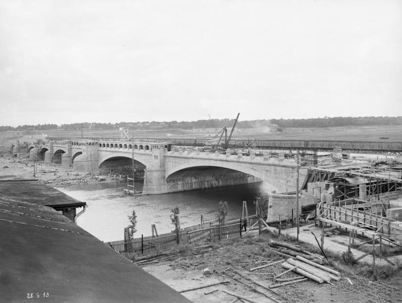 Bau der alten Kanalbrücke Minden/MLK (1913)