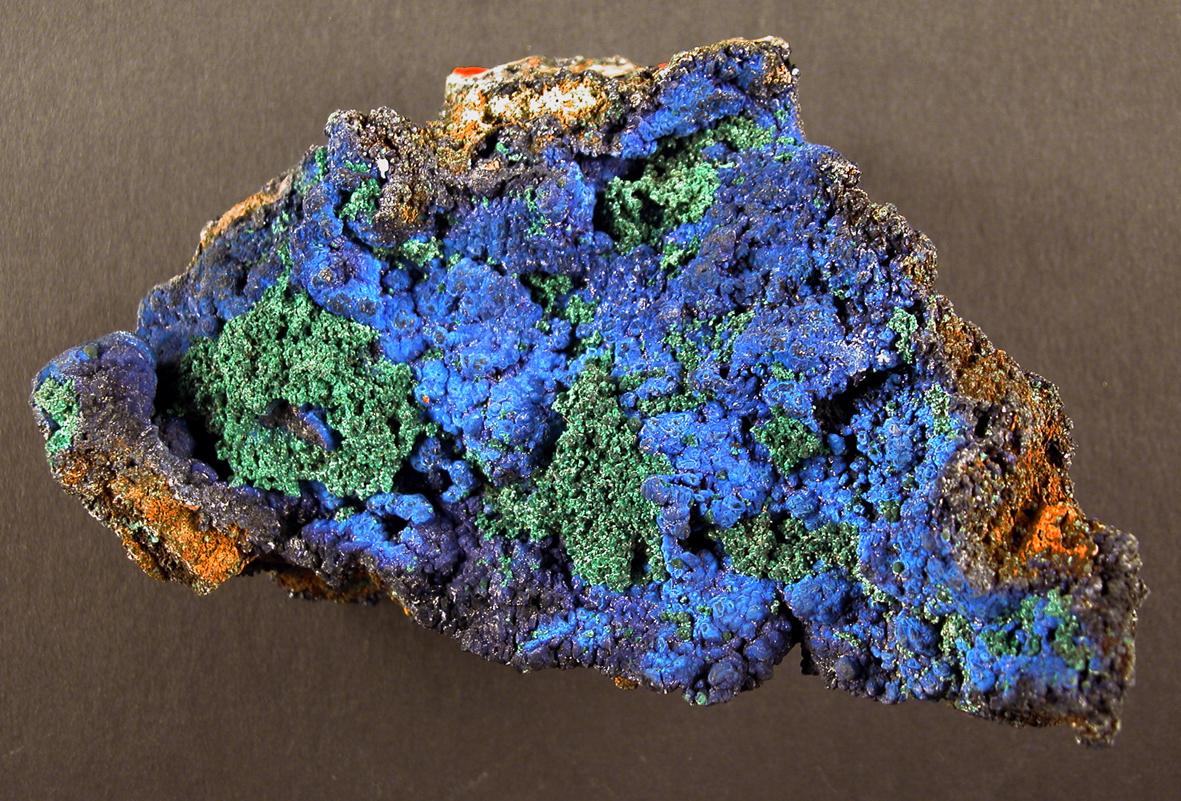 Bild eines Azurit aus der mineralogischen Sammlung, Museum für Naturkunde Berlin (CC BY-SA)