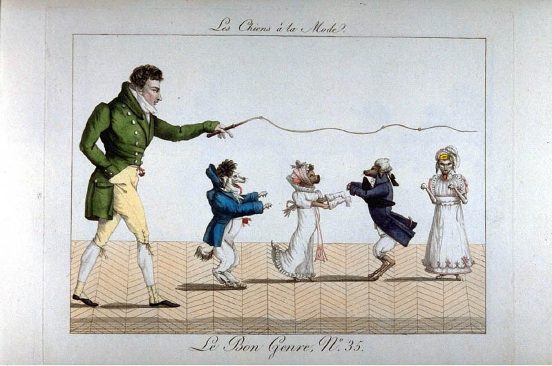 Les Chiens à la Mode (1801 - 1817), Foto: Fotograf unbekannt © Kunstbibliothek, Staatliche Museen zu Berlin