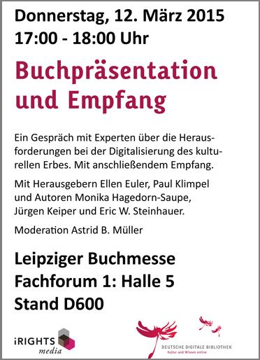 Flyer Buchpräsentation