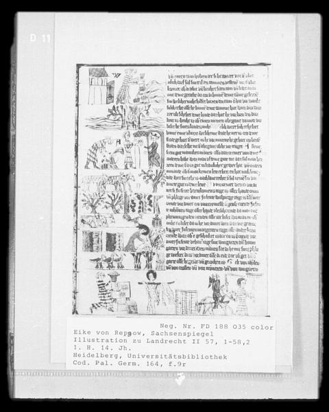 Sachsenspiegel, Bild (1301), Deutsche Fotothek