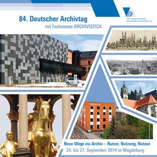 Cover Programmheft 84. Deutscher Archivtag 2014 in Magdeburg