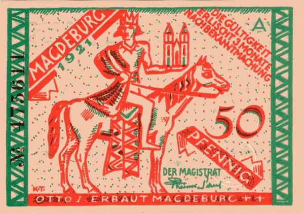 Notgeld aus Magdeburg (Quelle: Landesarchiv Baden-Württemberg)