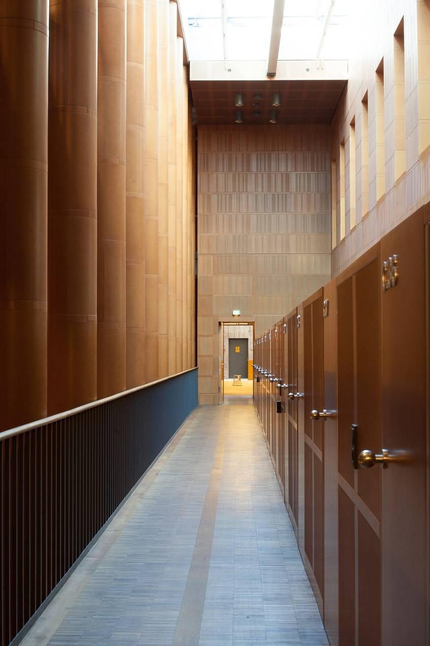 """""""Zugang, Carrels (Arbeitskabinen), Ebene -1, Sächsische Landesbibliothek – Staats- und Universitätsbibliothek Dresden"""", Fotograf: Jürgen Keiper, Deutsche Digitale Bibliothek"""
