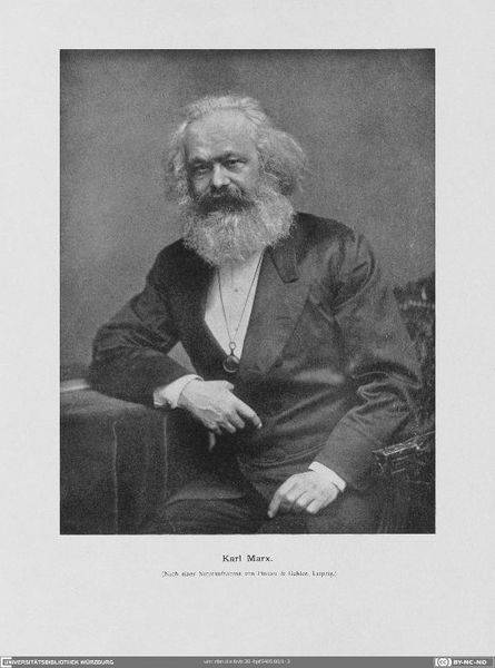 """Karl Marx"", 'Graphic; portrait, University Library of Würzburg (CC BY-NC-SA 4.0 International)"