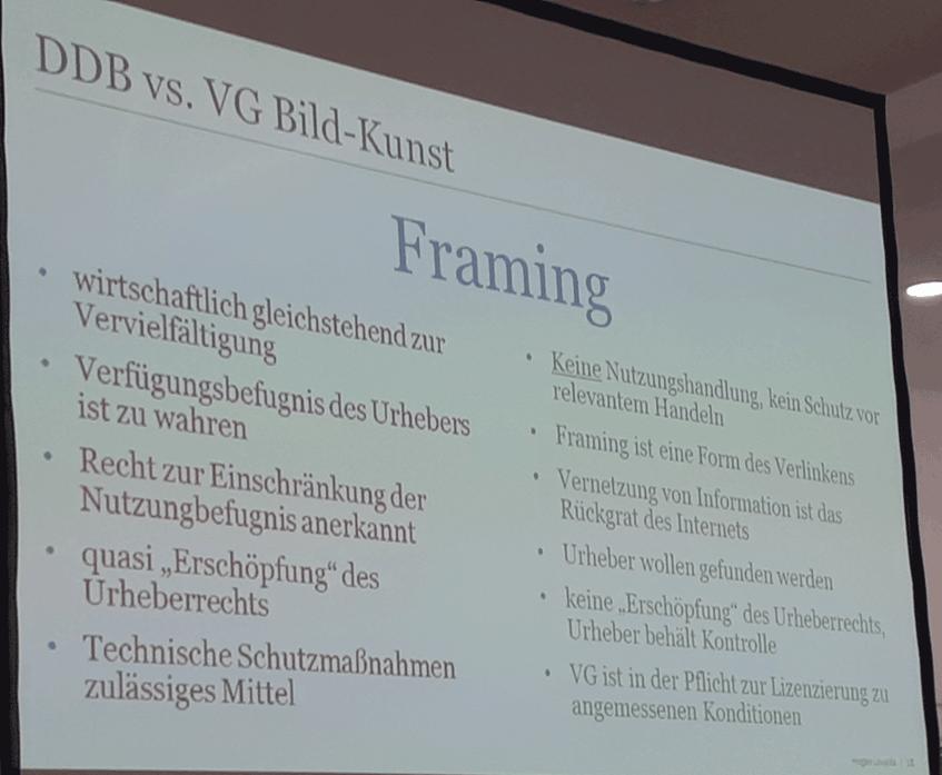 Die Streitfrage zwischen DDB und VG Bild-Kunst: Müssen wir Framing verhindern oder nicht?