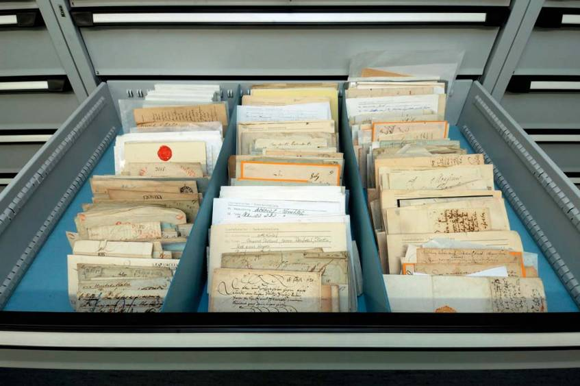 Letter culture is an important collection area of the Museumsstiftung Post und Telekommunikation, photo: Museumsstiftung Post und Telekommunikation