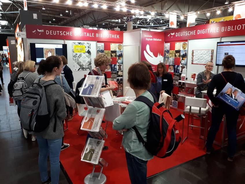 Der Stand der Deutschen Digitalen Bibliothek auf der Leipziger Buchmesse 2019 in Halle 5
