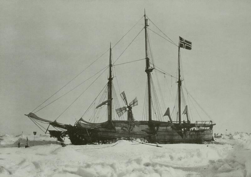 """""""Die Fram im Eis, Nordpolexpedition 1893/98"""", SLUB/Deutsche Fotothek"""