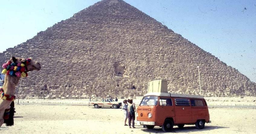 """Gil Hüttenmeister: Gizeh, Cheops-Pyramide, Juli 1987"", privat"
