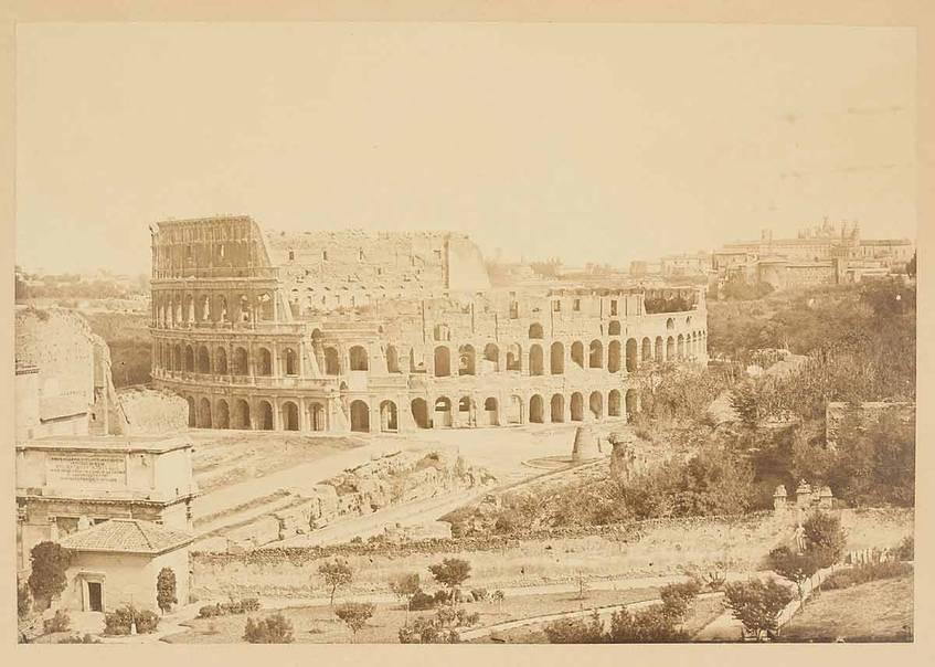 """Kolosseum, Rom"" (1860-1900), Albuminpapier, Fotografen: Fratelli Alinari, Museum für Kunst und Gewerbe Hamburg (CC0 1.0 Universell – Public Domain Dedication)"