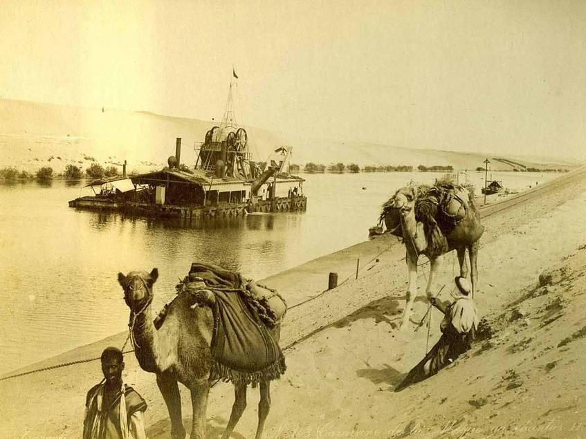 """No. 143 Caravane de la Meque au chantier"" (1870-1885), Fotograf/in: George & Constantine Zangaki, Museum für Kunst und Gewerbe Hamburg (Public Domain)"