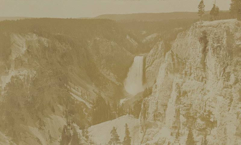 """Yellowstone Park: Grand Canyon: from Lookout Point (2350 meters)"" (1893), Fotograf: William Davignon, Leibniz-Institut für Länderkunde e.V. (CC BY-NC-SA 4.0 International)"