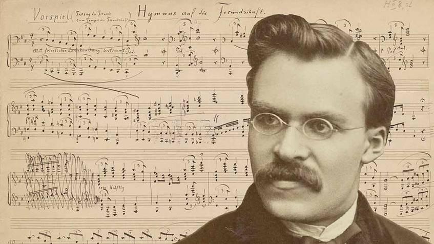 """Titelbild der Ausstellung """"Nietzsche komponiert"""""""