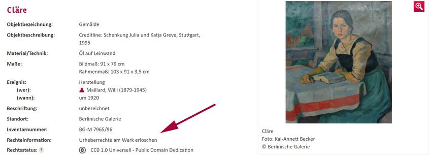 """""""Cläre"""" aus der Berlinischen Galerie. Das Werk ist gemeinfrei: https://www.deutsche-digitale-bibliothek.de/item/M4JINDBUSBAT2K35SBUY4K2STSADXIEW"""