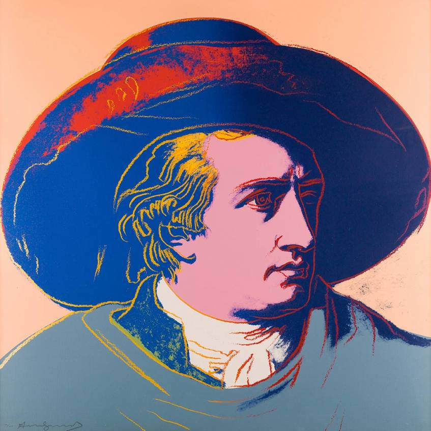 Andy Warhol: Goethe (Blatt 4/4), Farbserigraphie, 1982 © 2020 The Andy Warhol Foundation for the Visual Arts, Inc. / Licensed by Artists Rights Soc