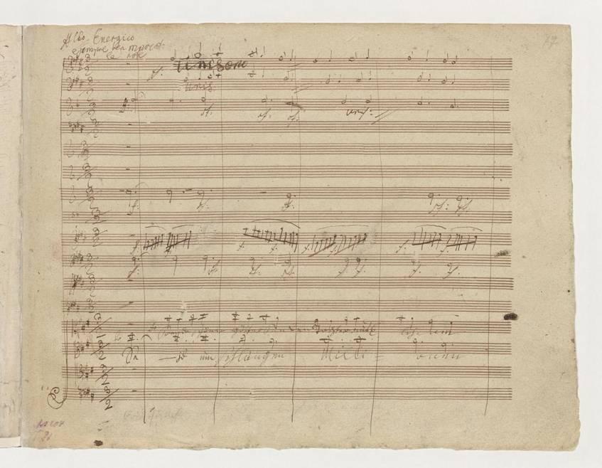 """Sinfonie Nr. 9 d-Moll op. 125"", Ludwig van Beethoven, Staatsbibliothek zu Berlin – Preußischer Kulturbesitz (CC BY-NC-SA 3.0 Deutschland)"