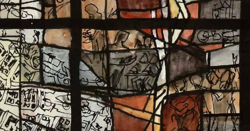 """Titelbild der Ausstellung """"Leuchtende Kirchenfenster"""""""