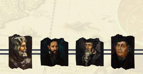 """Titelbild der Ausstellung """"Die Reformatoren"""""""