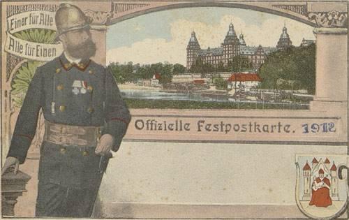Postkarte, 1912, aus der Sammlung des Stadt- und Stiftsarchivs Aschaffenburg (CC BY 3.0 Deutschland)