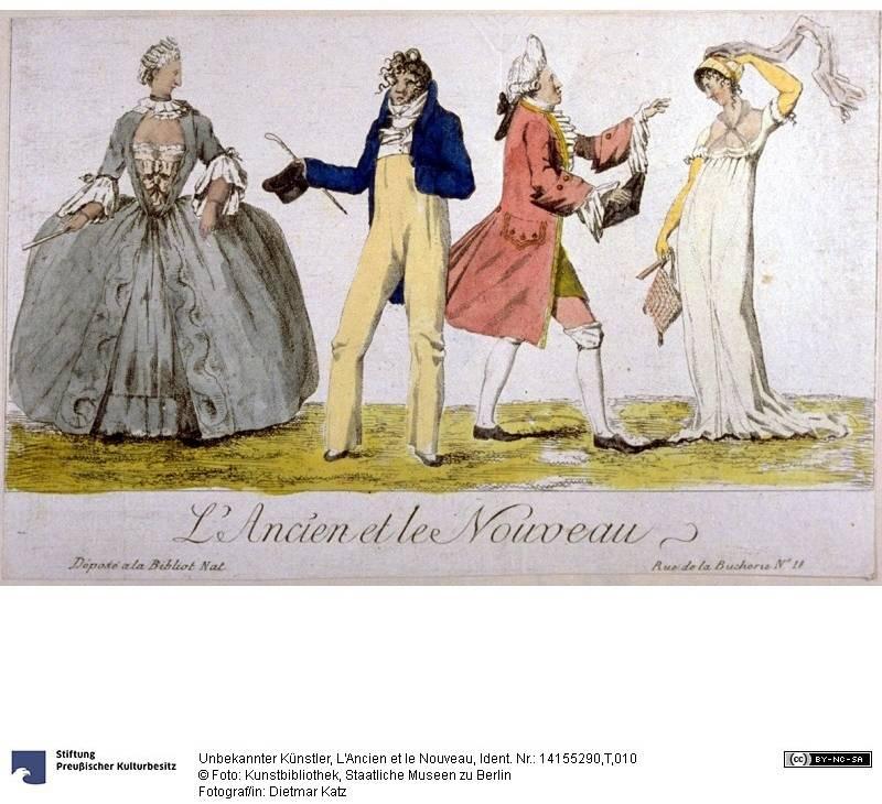 Mode vor und nach der Französischen Revolution