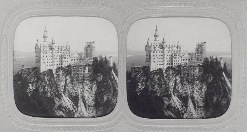 Stereoskopie Schloß Neuschwanstein