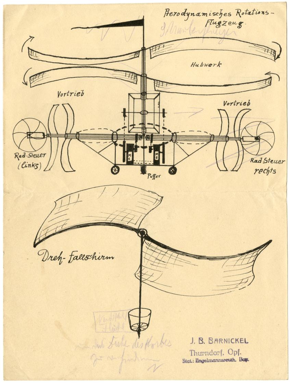 Rotationsflugzeug Archiv Erzbistum Bamberg
