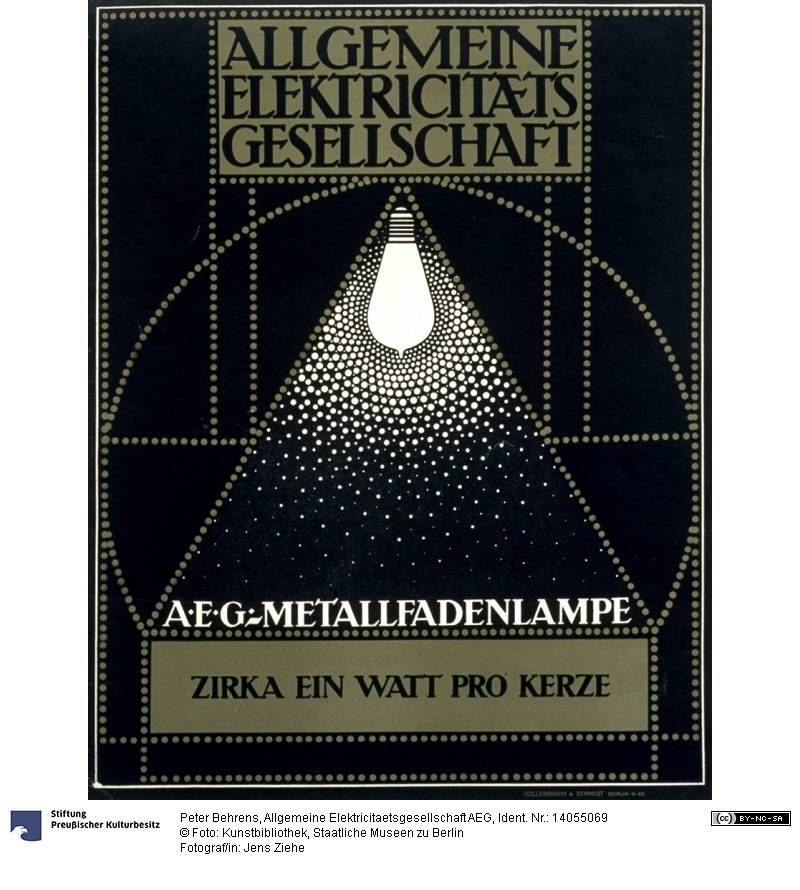Plakat: Allgemeine Elektricitaetsgesellschaft AEG