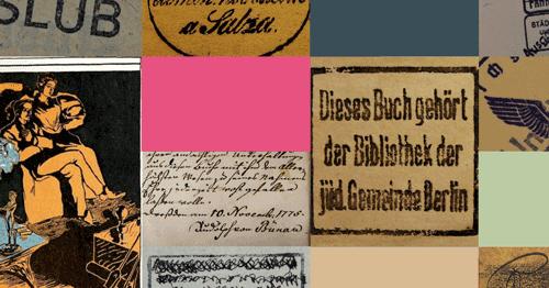 Collage Provenienzforschung SLUB Dresden