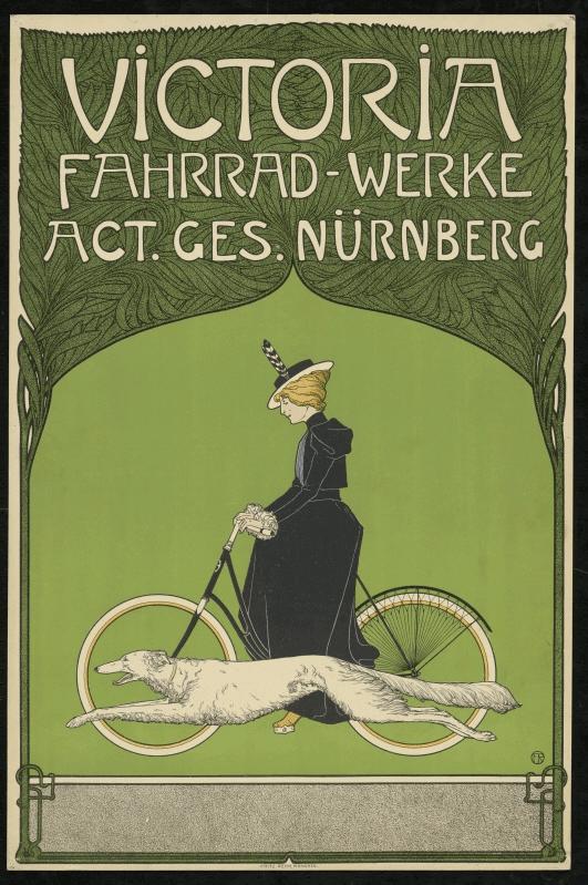 """""""Victoria Fahrrad-Werke"""" (1899) Kunstbibliothek, Staatliche Museen zu Berlin (CC BY-NC-SA 3.0 DE)"""
