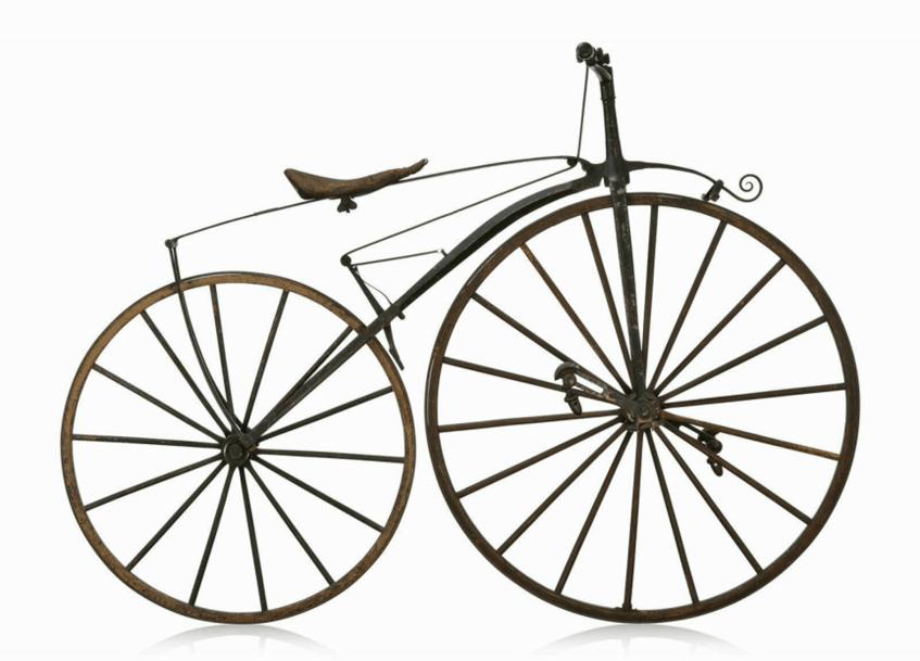 """""""Tretkurbelfahrrad: Vélocipède Michaux"""" (1868) TECHNOSEUM Landesmuseum für Technik und Arbeit in Mannheim (CC0 1.0 Universell - Public Domain Dedication)"""