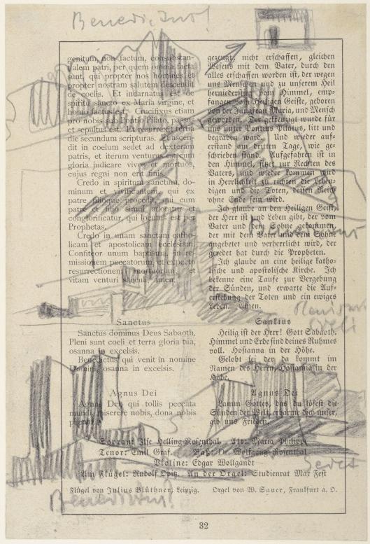 Musikalische Skizze auf einer Buchseite