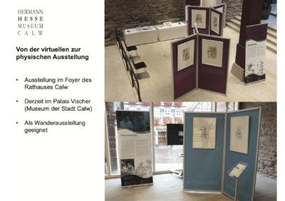 Von der virtuellen zur physischen Ausstellung, Städtische Museen Calw