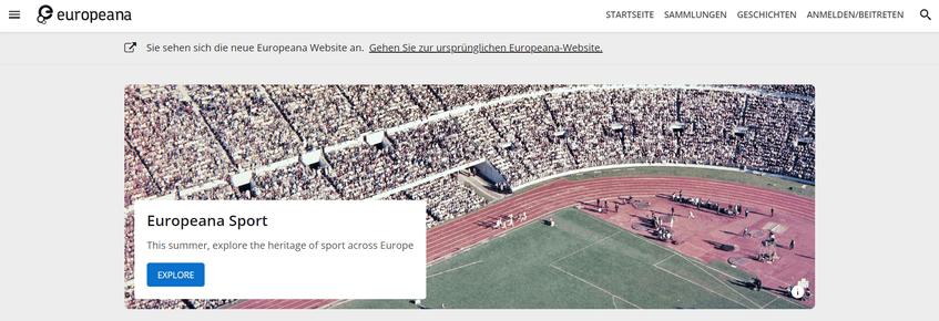 Europeana-Startseite