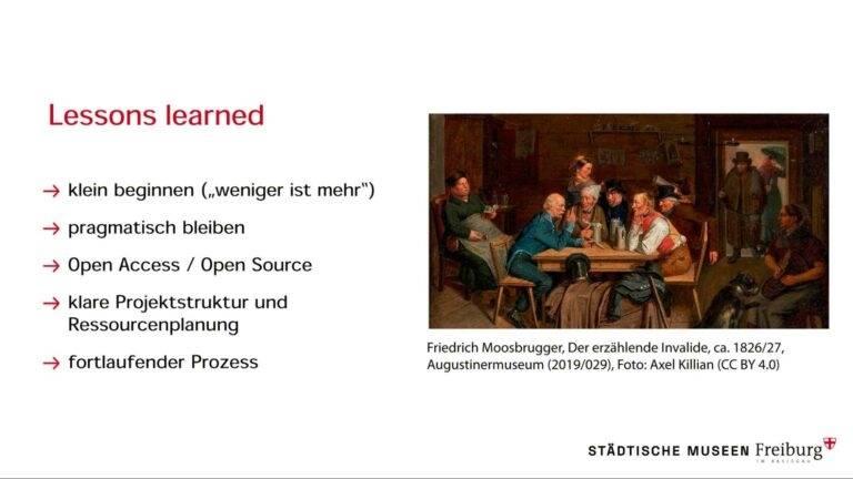 Learnings aus dem Aufbau der Online-Sammlung der Städtischen Museen Freiburg (Jochen Dietel)
