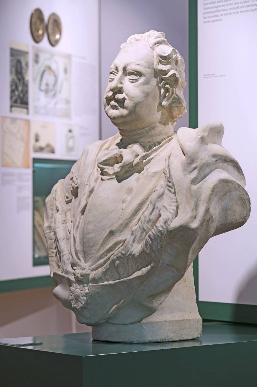 3D-Scan der Büste von Markgraf Karl Wilhelm von Baden-Durlach (1679–1738) im Stadtmuseum Karlsruhe