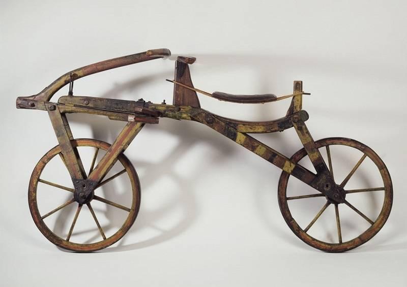 3D-Modell einer Laufmaschine aus dem Nachlass von Karl (von) Drais (1785–1851) im Stadtmuseum Karlsruhe