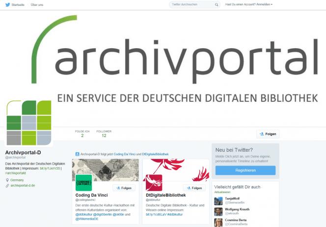 Archivportal-D auf Twitter
