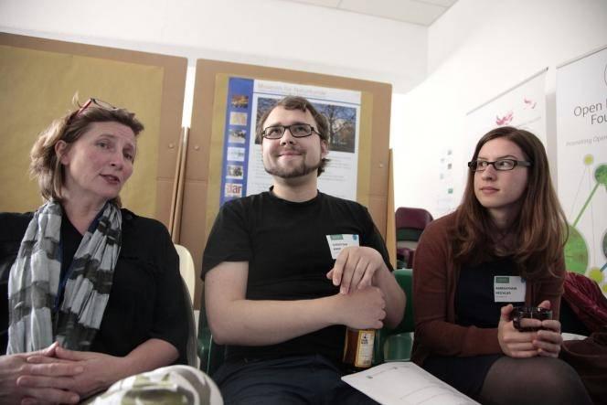 Chris zusammen mit Barbara Fischer von Wikimedia Deutschland