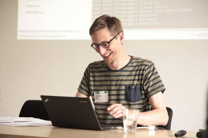 Christoph Böhme von der DNB beim Metafacture Workshop