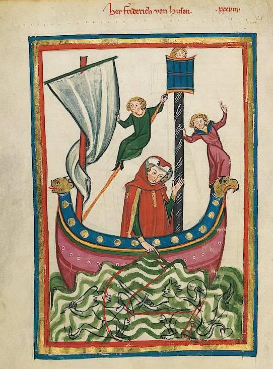 """""""Große Heidelberger Liederhandschrift (Codex Manesse)"""" (1305 - 1340), Universitätsbibliothek Heidelberg, CC BY-SA 4.0 International"""