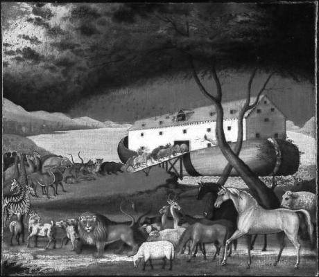 Edward Hicks: Noah's Ark. 1846. Öl auf Leinwand. Philadelphia Museum of Art. Abbildung: Wikimedia Commons (Public Domain)