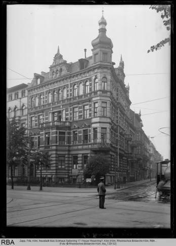 Köln, Neustadt-Süd, Eckhaus Salierring 17 / Neuer Weyerring?, Foto: Zapp, Fritz, © Rheinisches Bildarchiv Köln